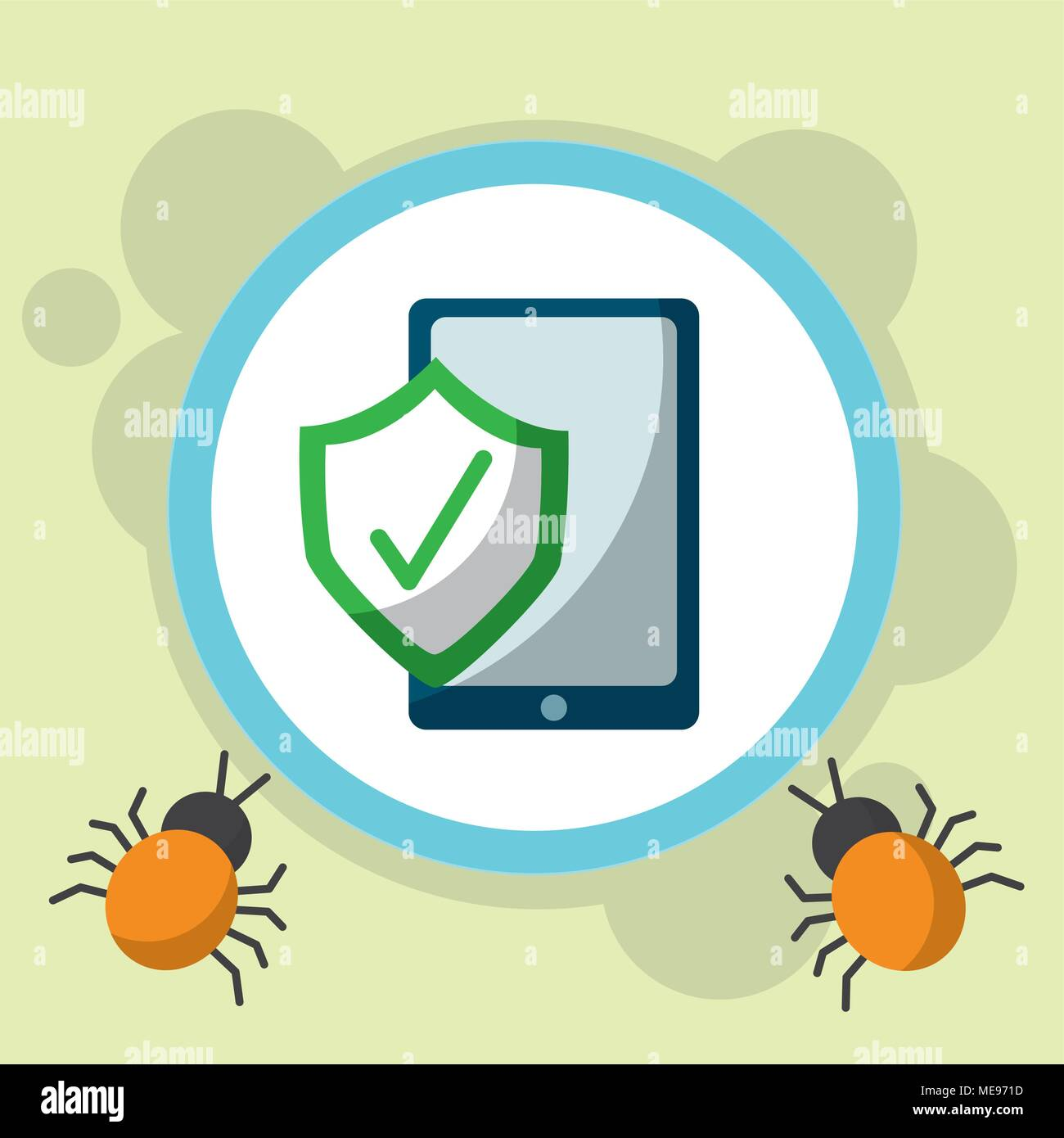 cyber security concept - Stock Vector