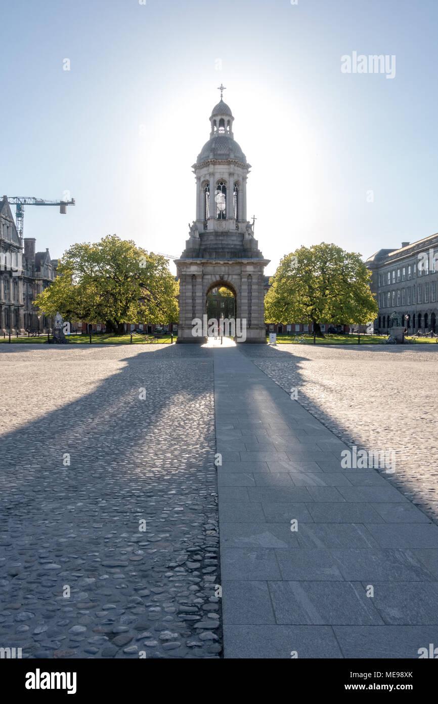 The Campanile - Trinity College in Dublin - Ireland Stock Photo