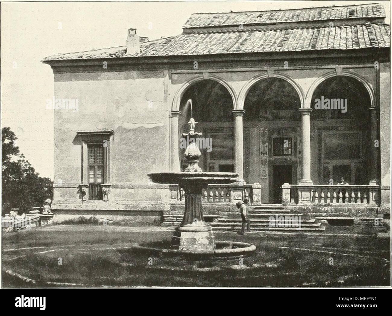 Die Gartenkunst . Villa Farnese bei Caprarola : Rückwärtige ...