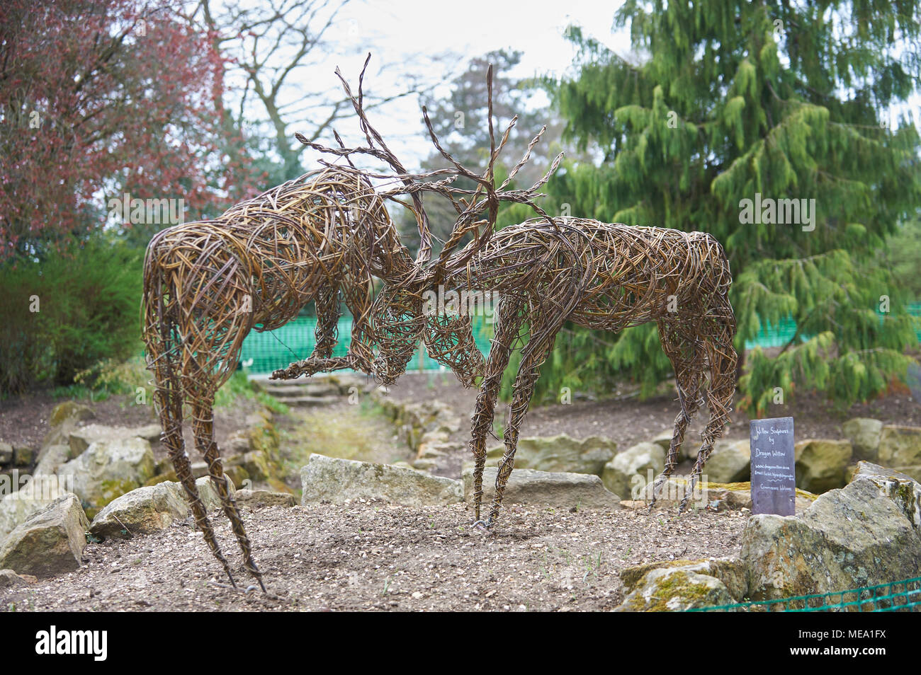 Wire Sculptures In The Garden Stock Photo 180929614 Alamy