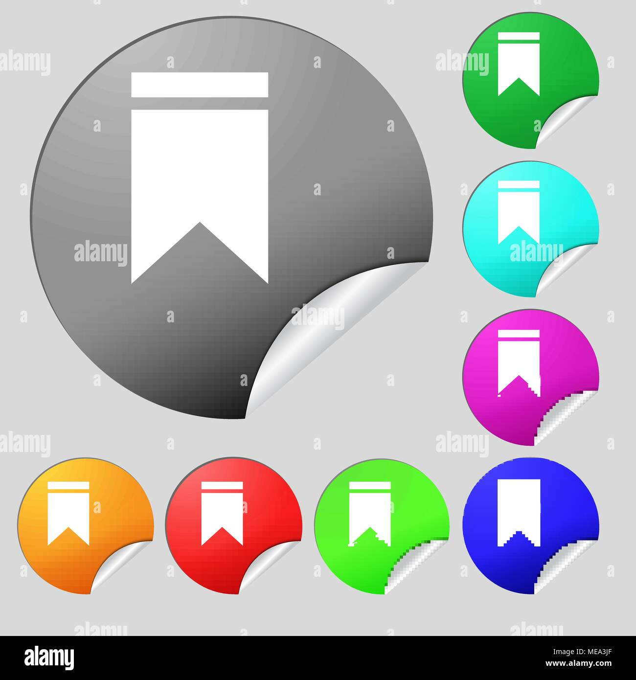 Web stickers tags and banners sale icon sign set of eight multi