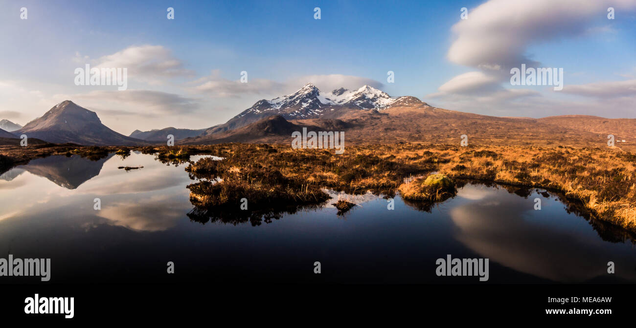 Marsco and the Cuillin Ridge - Stock Image