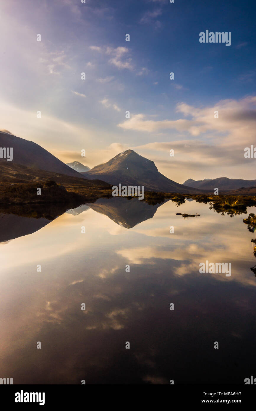 Marsco Reflected, the Red Cuillin - Stock Image