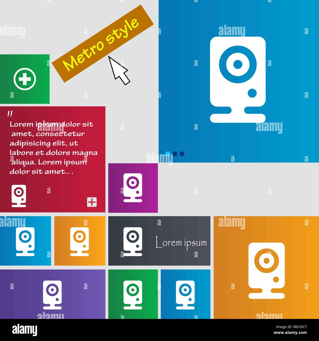 Web cam icon sign  buttons  Modern interface website buttons