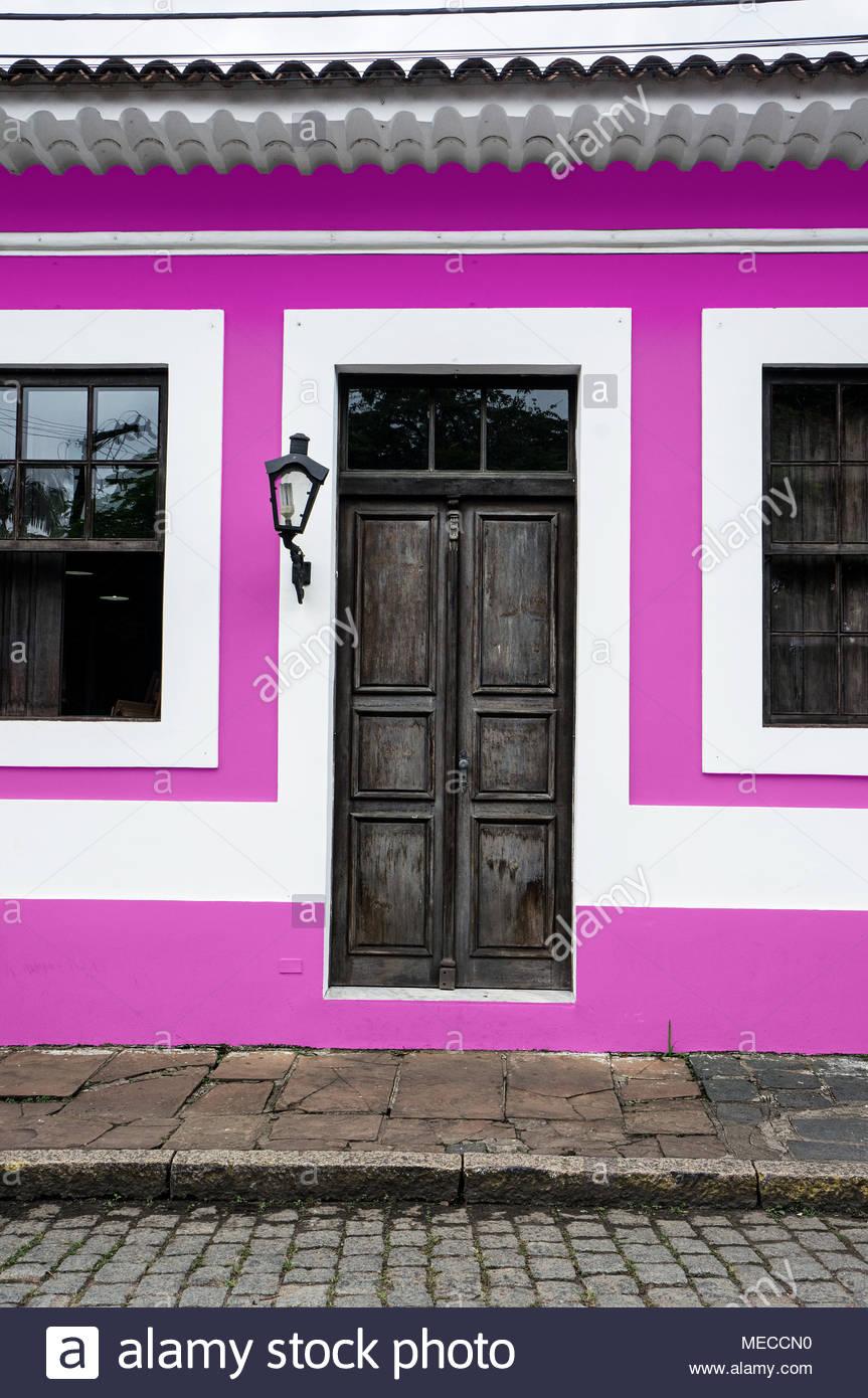 City Morretes Brazil Old Light Chandelier Design Wooden Door Glass