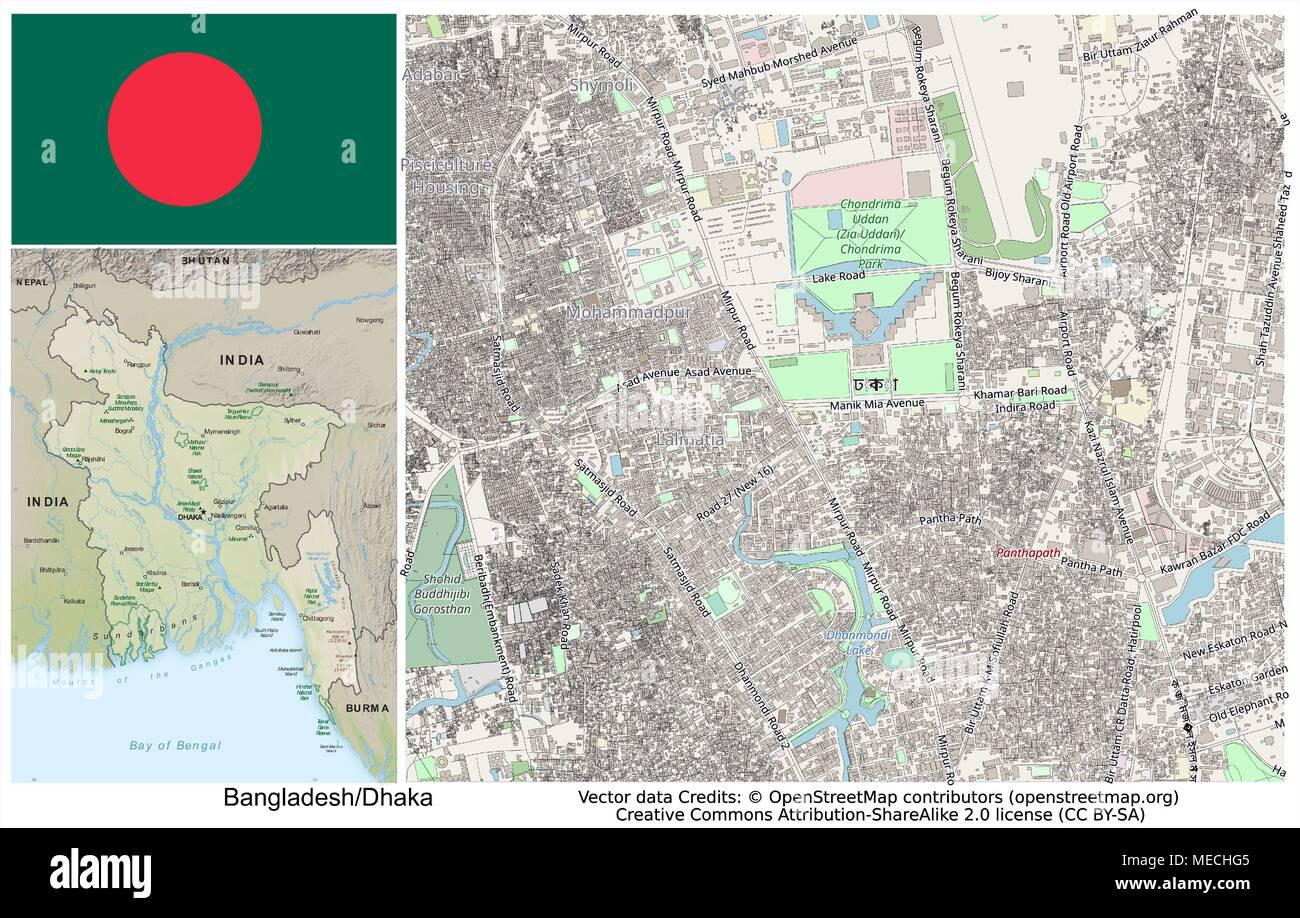 Bangladesh Dhaka Chittagong - Stock Vector