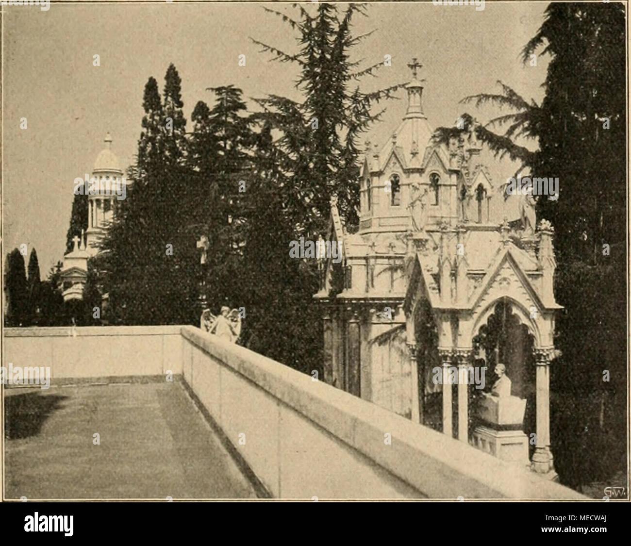 Die Gartenwelt . Blick von der Terrasse des Tempio Crematorio in ...