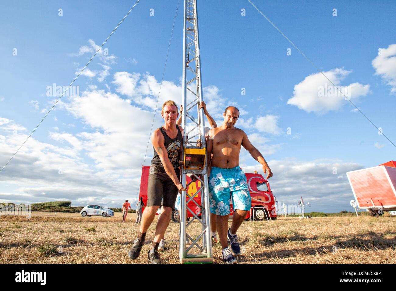 Zavatta Circus, Kerroch, Brittany, France. - Stock Image