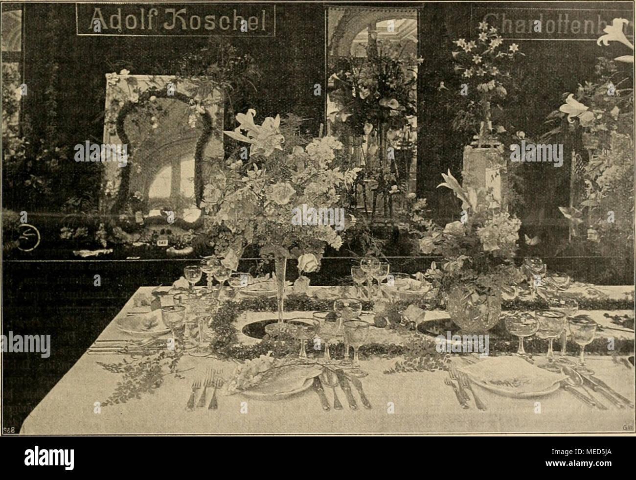 Charmant Die Gartenwelt . Tafeldekoration Und Bindereien Von Adolf Koschel,  Charlottenburg. Originalaufnahme Für Die .