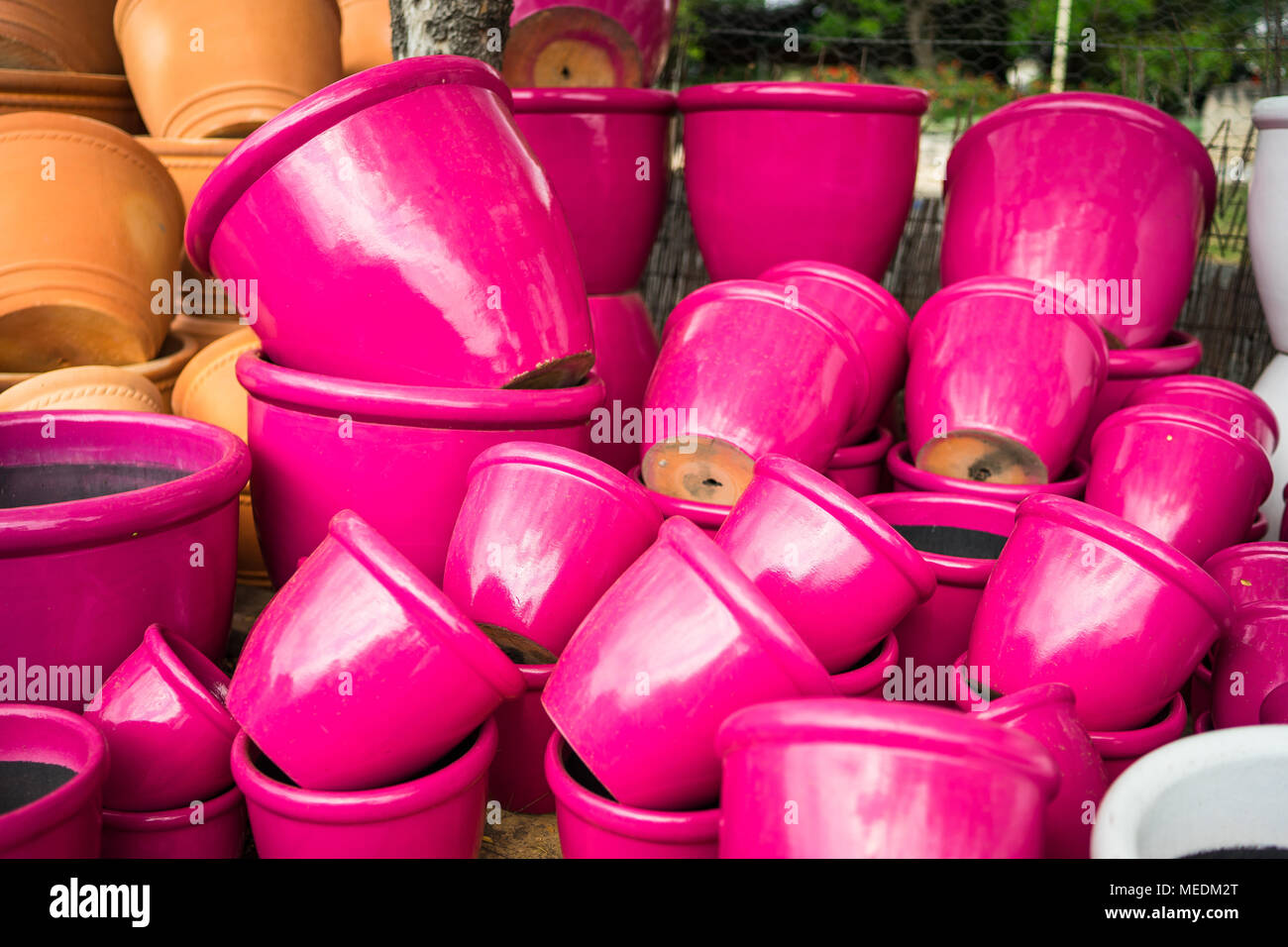 Large Ceramic Flower Pots Stock Photos Large Ceramic Flower Pots