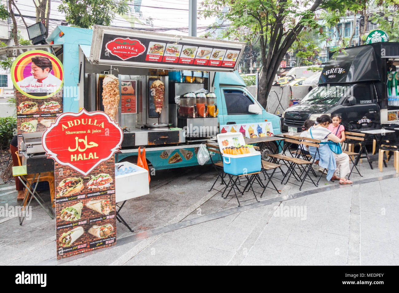 Halal Food Truck High Resolution Stock Photography And Images Alamy