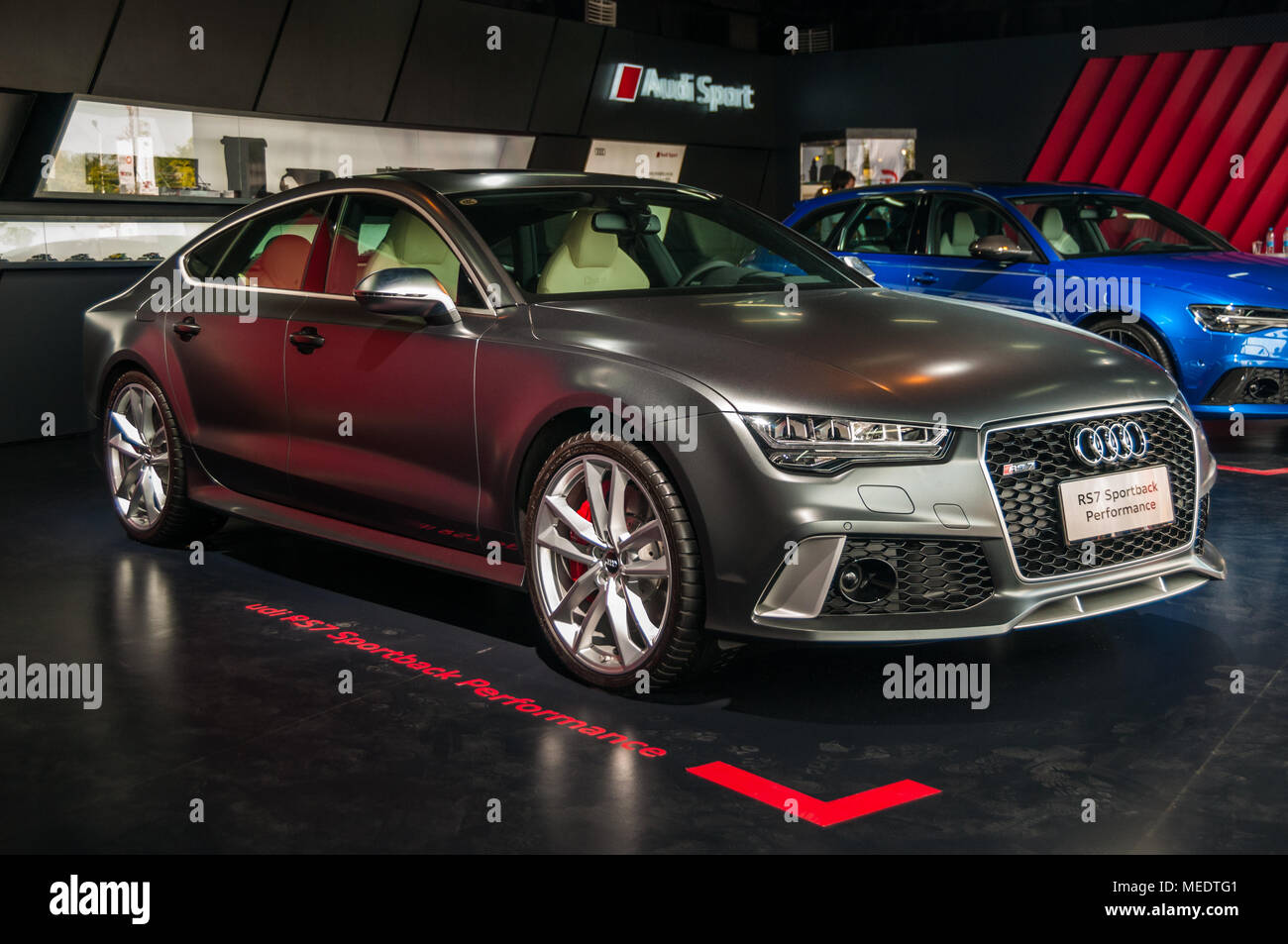 Sportback Stock Photos Images Alamy Rs7 2017 With A Red Colour Performance At An Audi Sport Event The Shanghai International Circuit Rs6