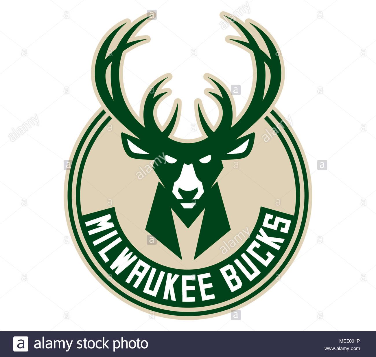 Milwaukee Bucks icon logo - Stock Image