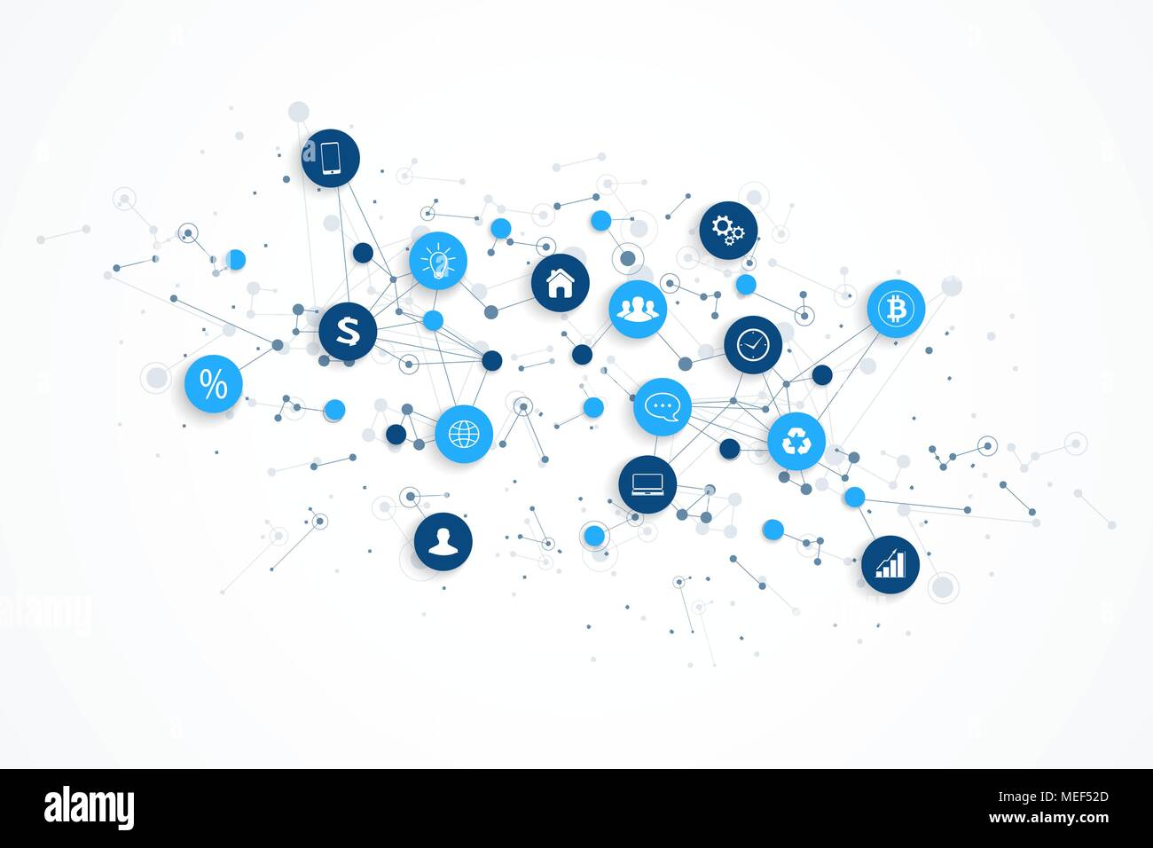 Internet of things (IoT) and network connection concept design vector. Smart digital concept Stock Vector
