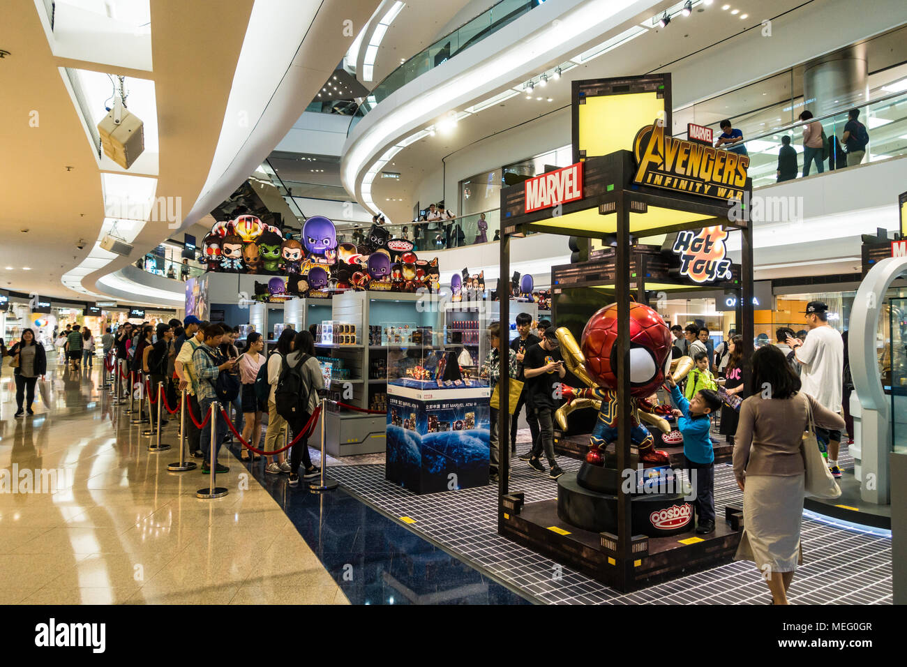 marvel pop up store at shopping mall  centre  in hong kong
