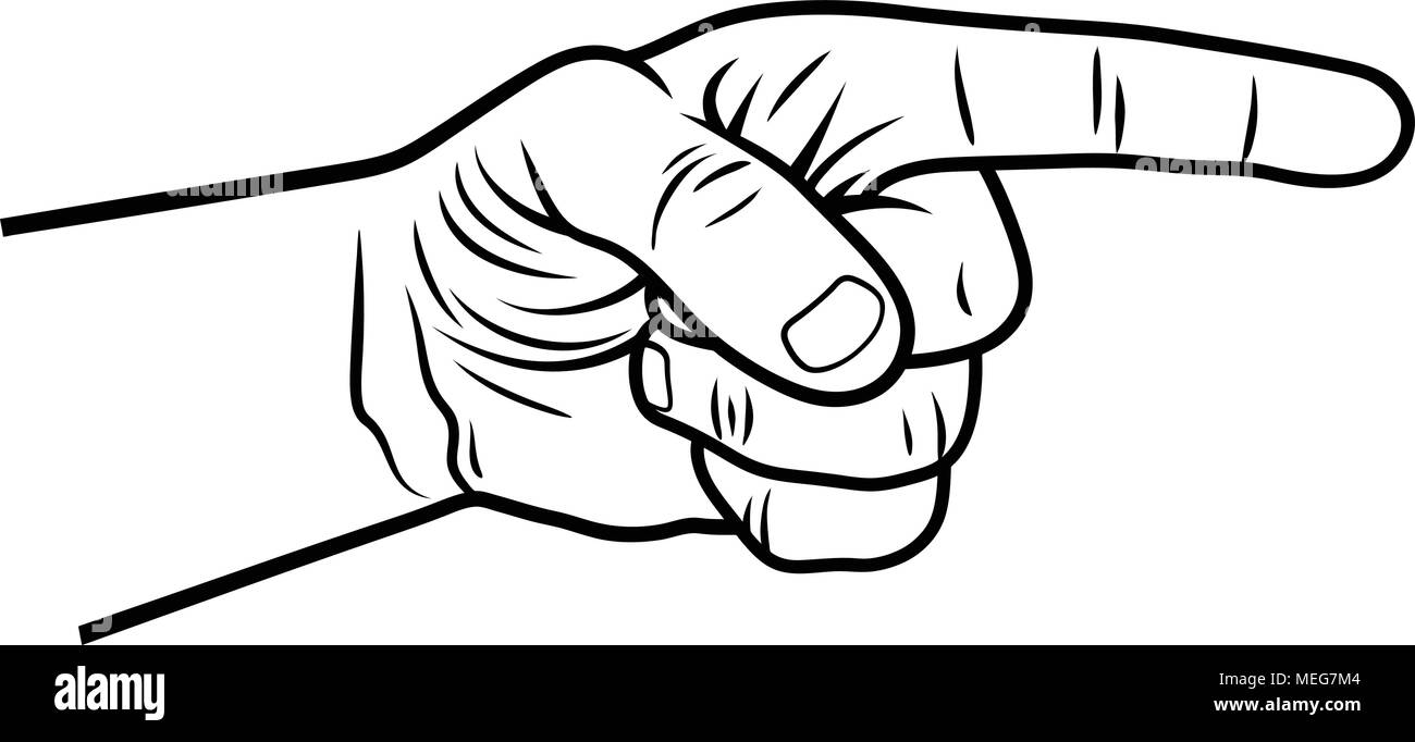 pointing hand vector illustration of a pointing finger hand drawn sketch stock vector image art alamy https www alamy com pointing hand vector illustration of a pointing finger hand drawn sketch image181066148 html