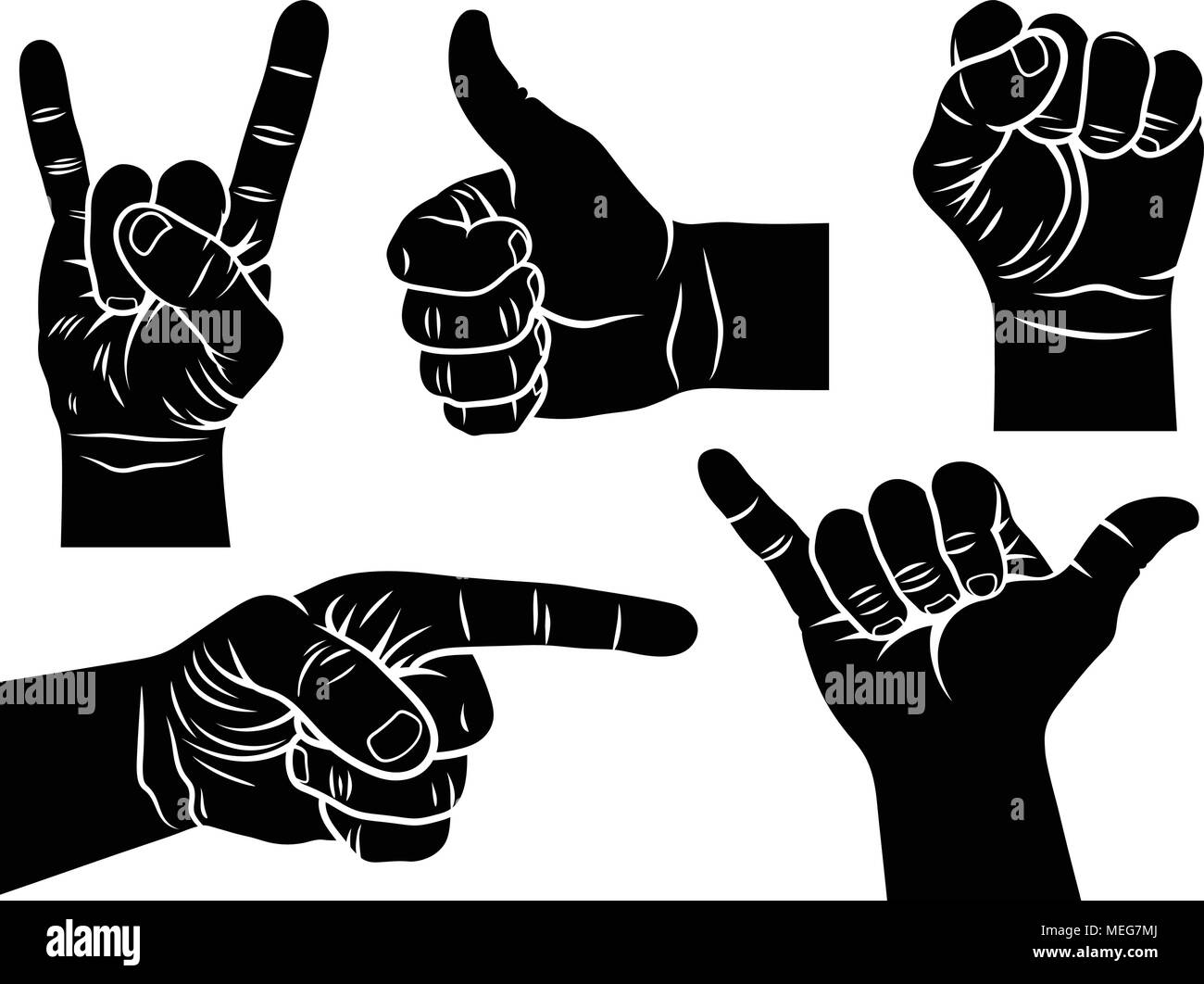Hand Gestures And Signs Shaka Sign Male Fist A Hand Showing