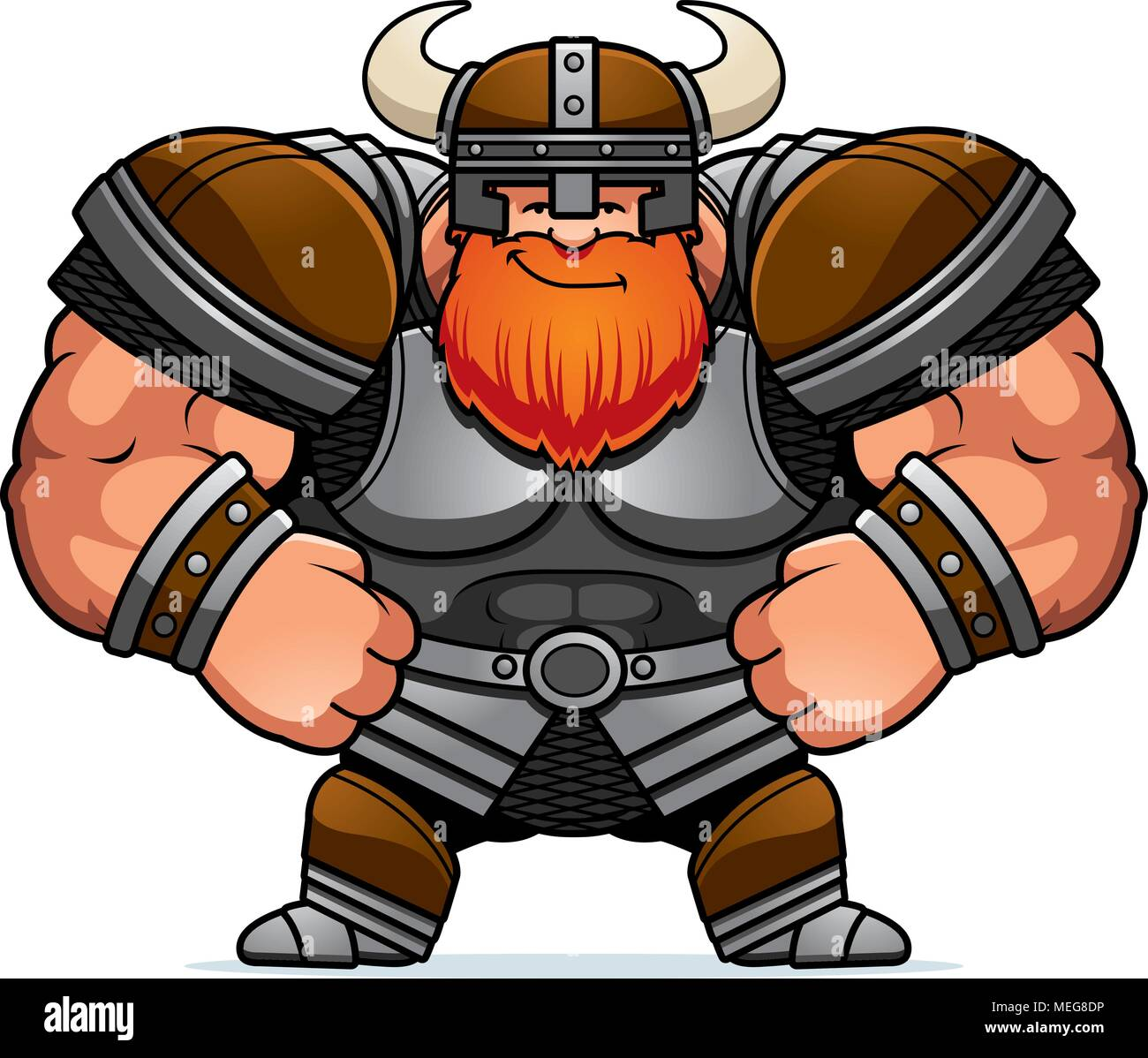 A Cartoon Illustration Of A Viking Looking Confident Stock Vector