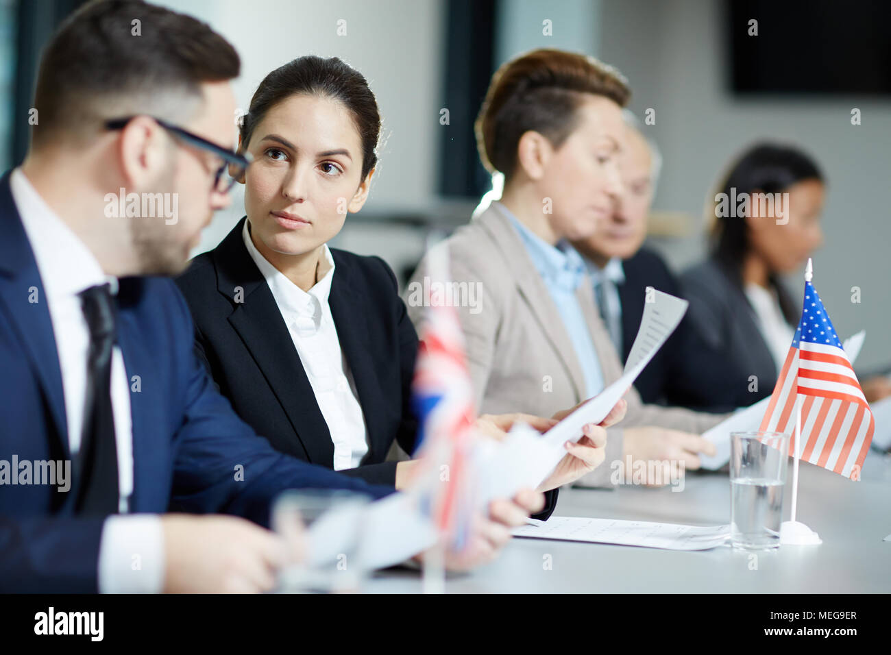 Foreign colleagues working - Stock Image