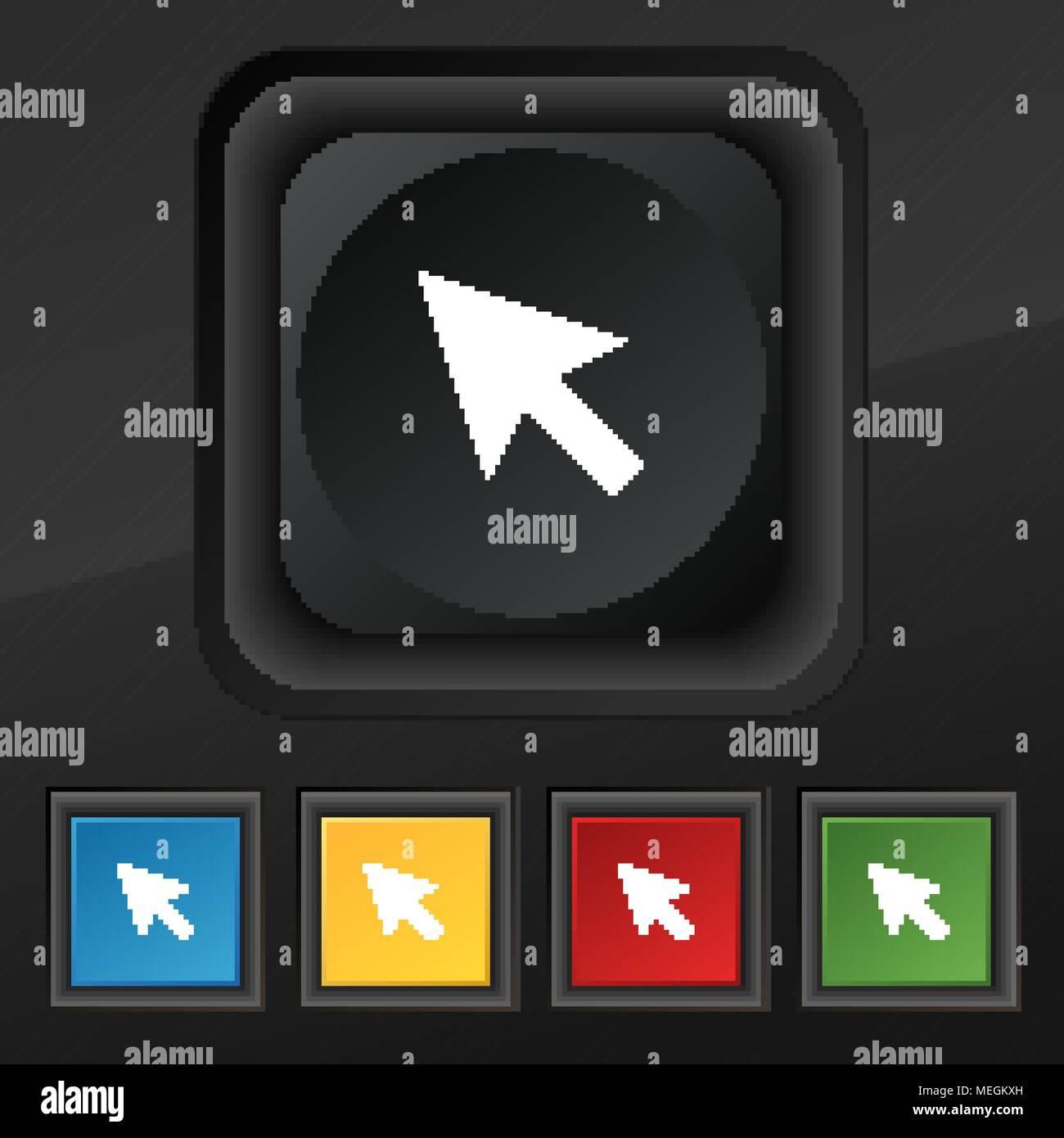 Arrow Cursor Computer Mouse Icon Symbol Set Of Five Colorful