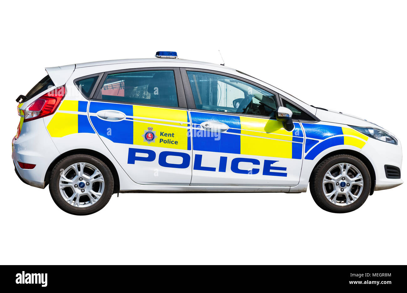 Parked police car - Stock Image