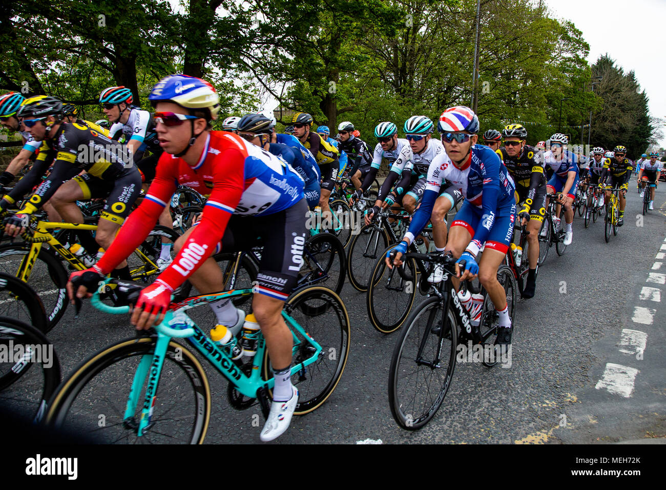 Cyclists taking part in the Tour de Yorkshire 2017 Stock Photo