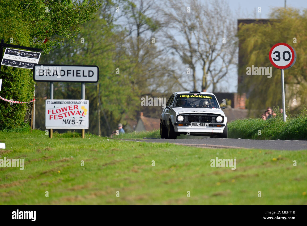 Robin Adams driver and Ray Keith co driver racing a Ford Escort in ...