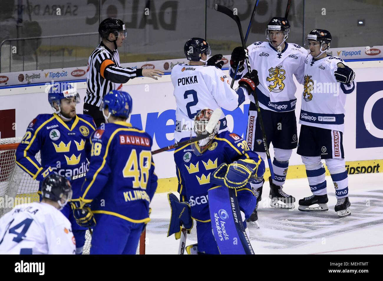 Pardubice Czech Republic 22nd Apr 2018 Ice Hockey Players Of