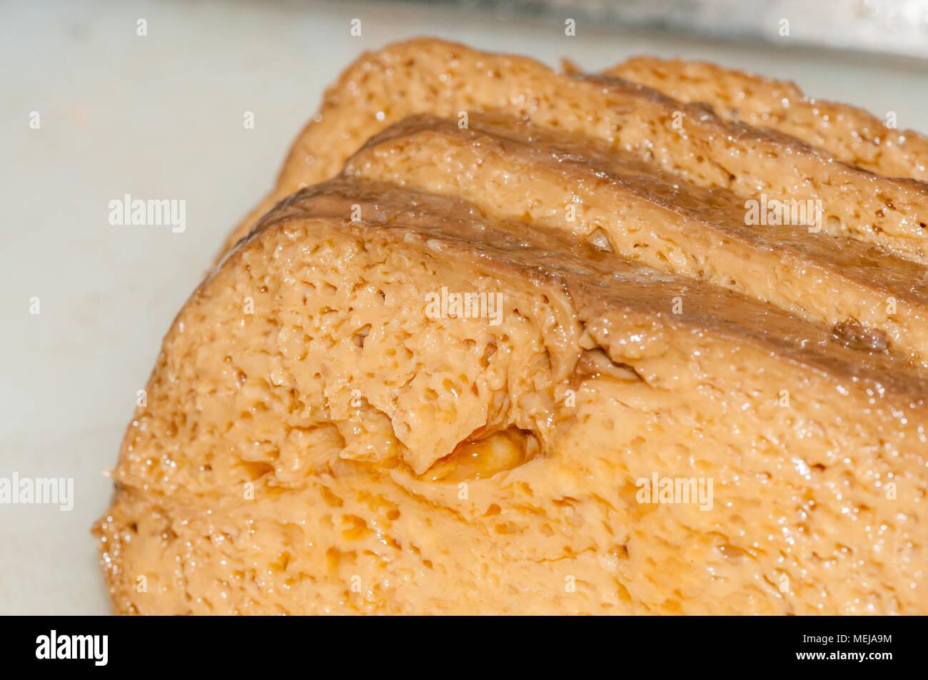 slice seitan - Stock Image