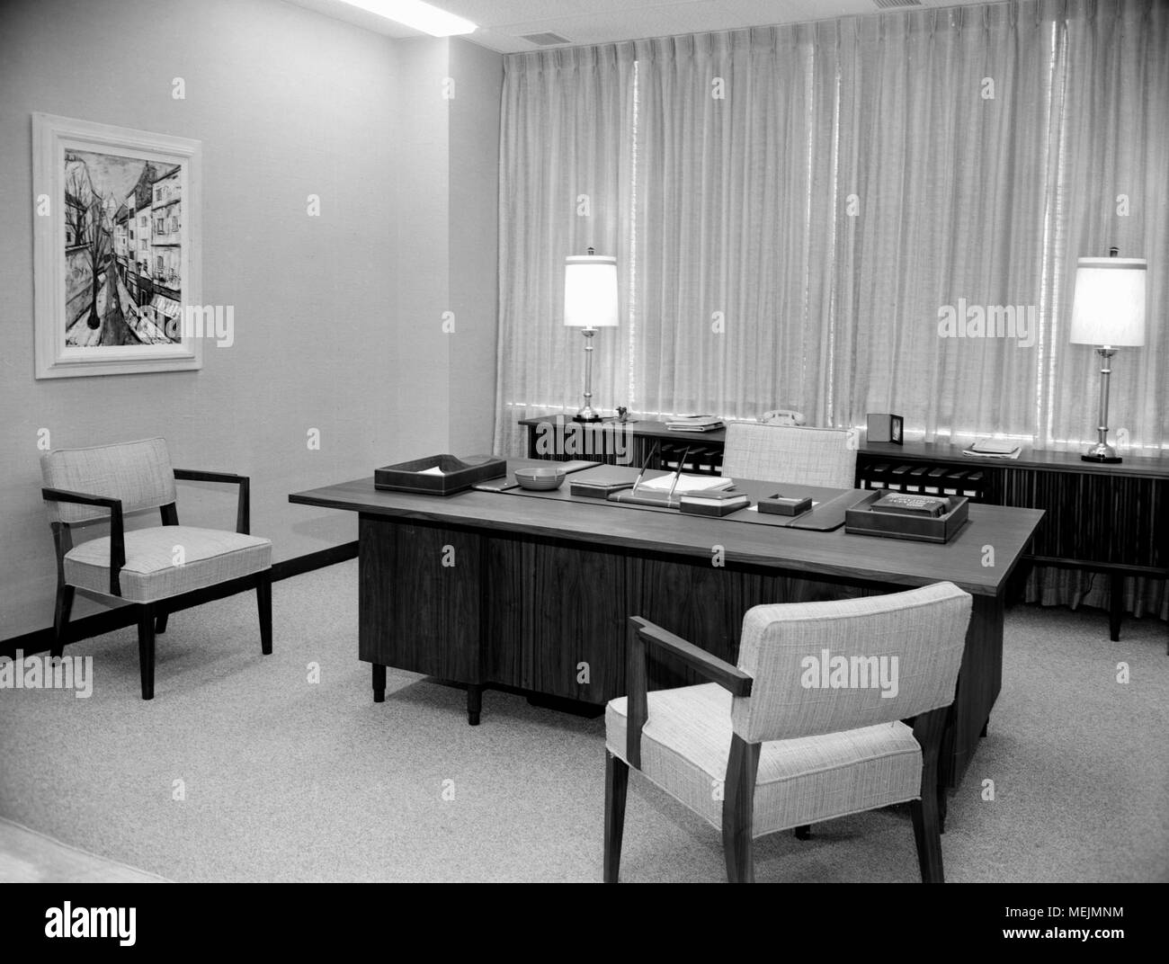 Mid Century Modern Office For A Business Executive, Ca. 1957.