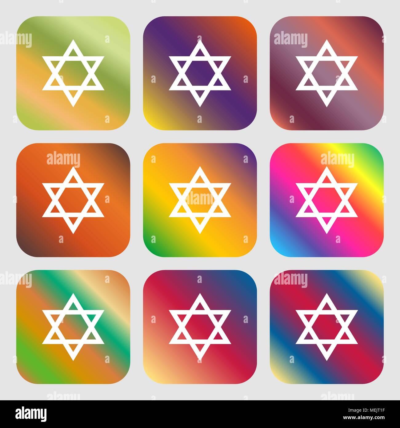 pentagram icon - Stock Vector
