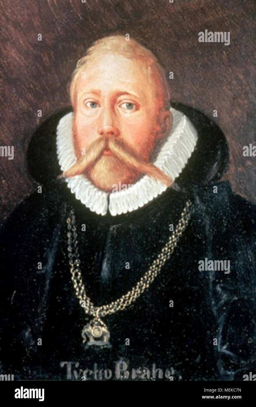 Tycho Brahe (1546 – 1601) Danish nobleman, astronomer, and writer known for his accurate and comprehensive astronomical and planetary observations. - Stock Image