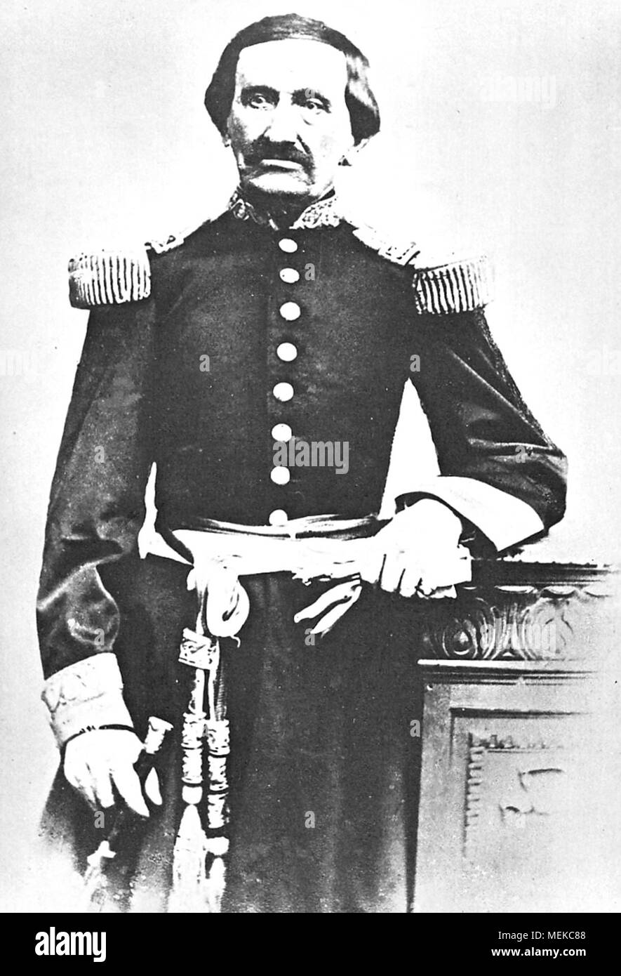 Antonio Gutiérrez de la Fuente (1796–1878) Peruvian politician who also served in the Peruvian military. He briefly served as the ninth President of Peru in June 7 – September 1, 1829. - Stock Image