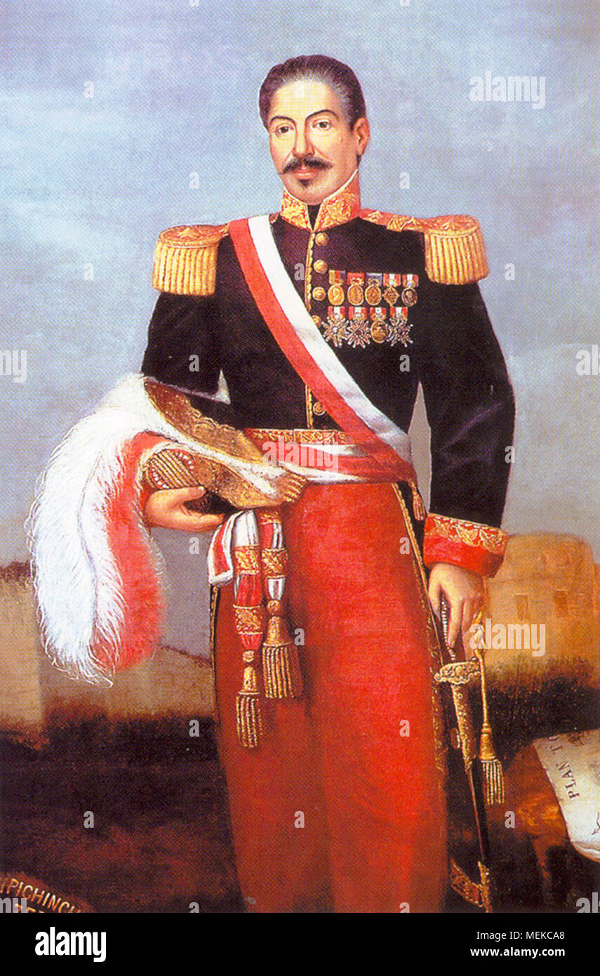 Miguel de San Román Meza (1802 - 1863) served as the 25th President of Peru for a brief period between 1862 and 1863. - Stock Image