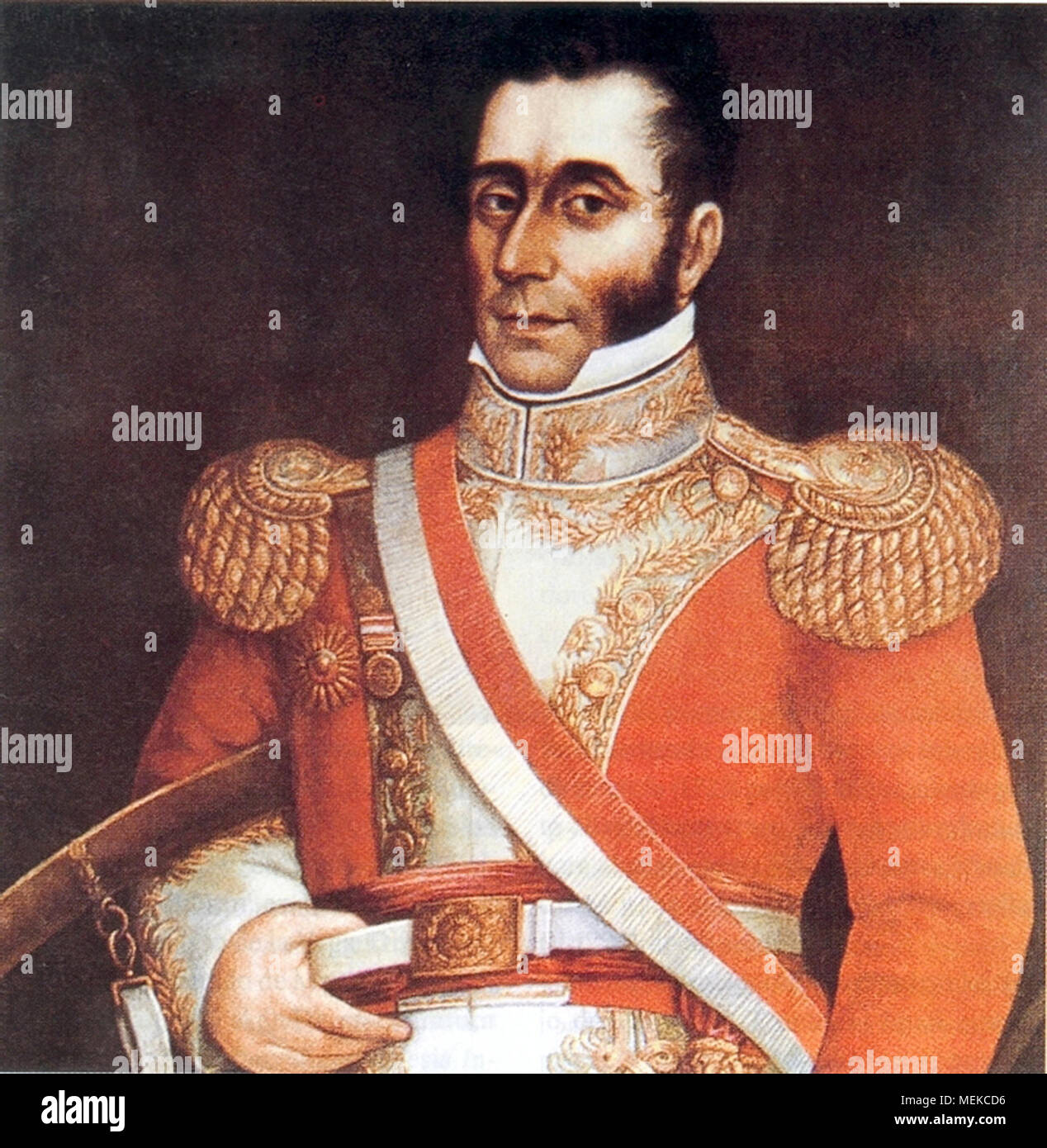 José Bernardo de Tagle y Portocarrero, the iv Marquis of Torre Tagle (1779 - 1825), Peruvian soldier and politician who served as the Interim President of Peru in 1823 as well as the fifth President of Peru from 1823 to 1824. - Stock Image