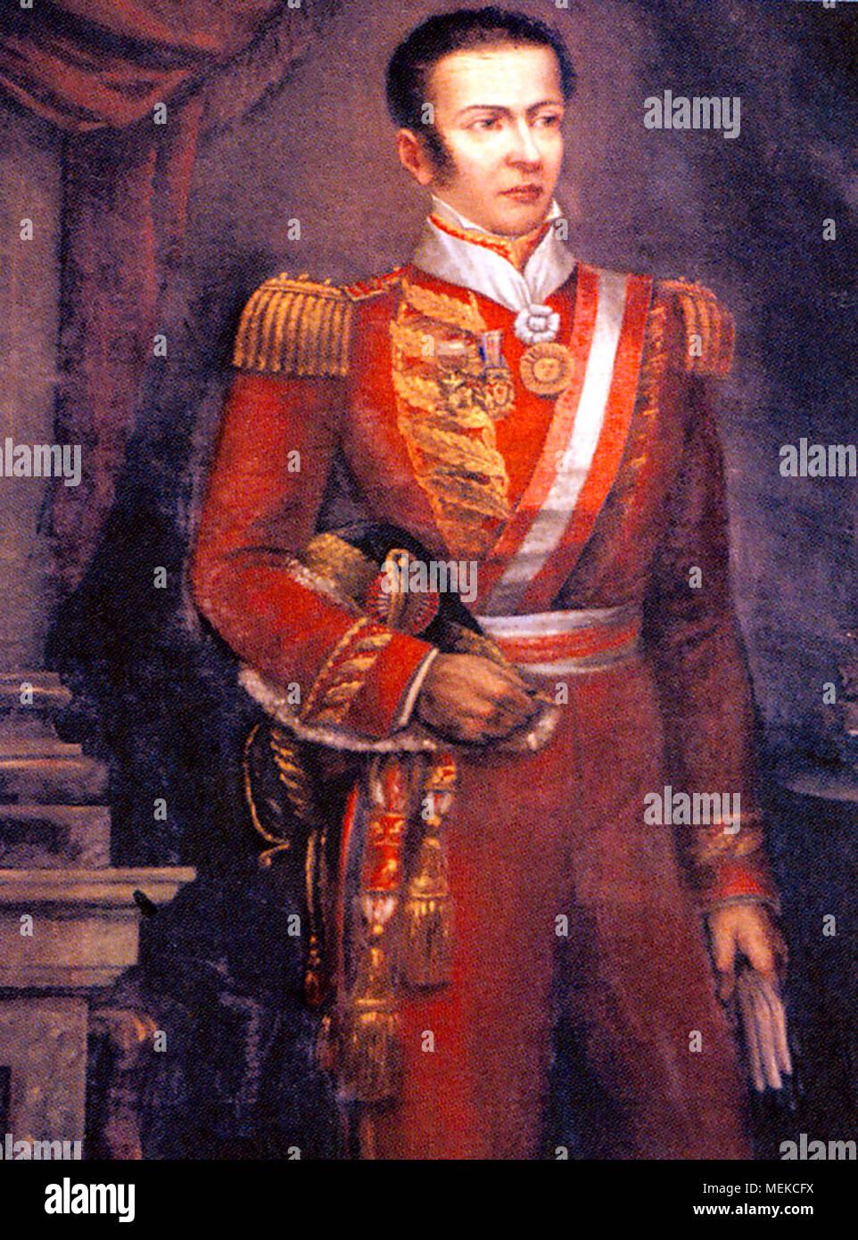 José Mariano de la Cruz de la Riva Agüero y Sánchez Boquete Marquess De Montealegre de Aulestia (1783 – 1858) Peruvian soldier, politician, and historian who served as the 1st President of Peru and 2nd President of North Peru. - Stock Image