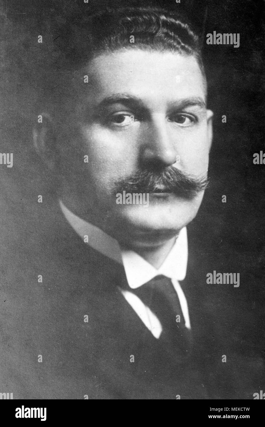 Gustav Bauer Gustav Adolf Bauer (1870 – 1944) German Social Democratic Party leader and 11th Chancellor of Germany from 1919 to 1920 - Stock Image