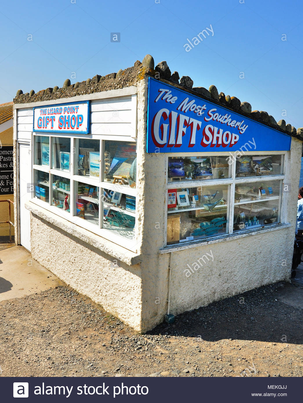 The most southerly gift shop on mainland Britain at Lizard Point, Cornwall, England, UK - Stock Image