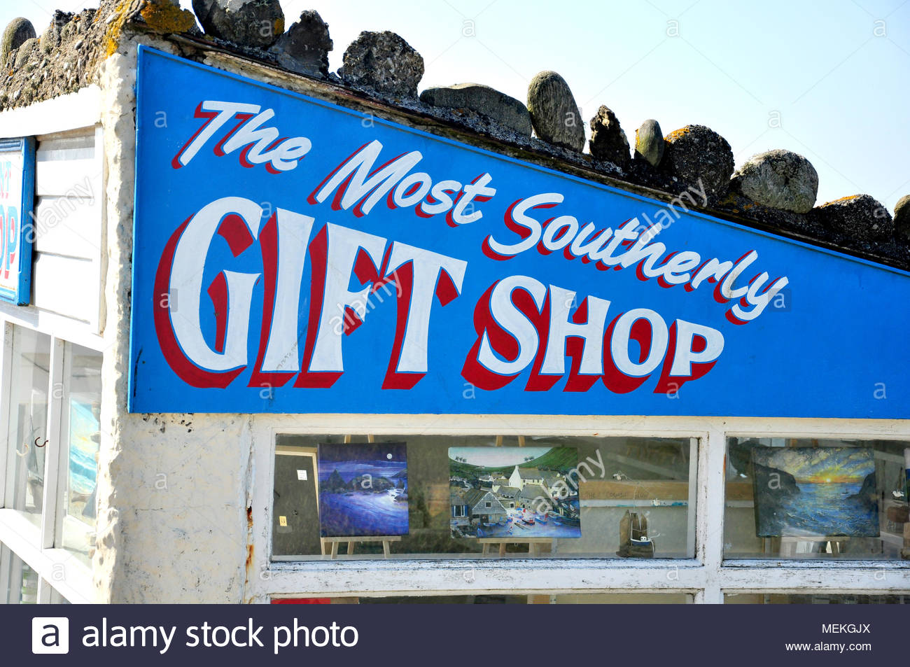 The most southerly gift shop on mainland Britain at Lizard Point, Cornwall, England, UK Stock Photo