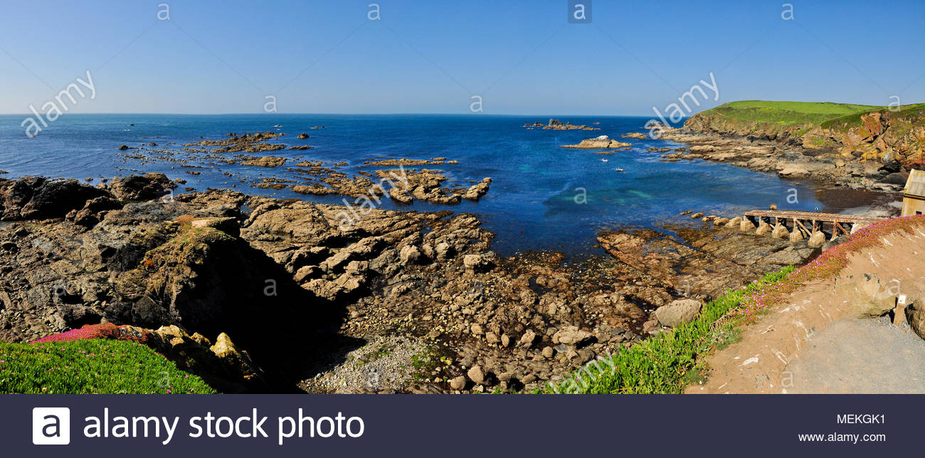 The most southerly point on mainland Britain, Lizard point, Cornwall, England UK. - Stock Image