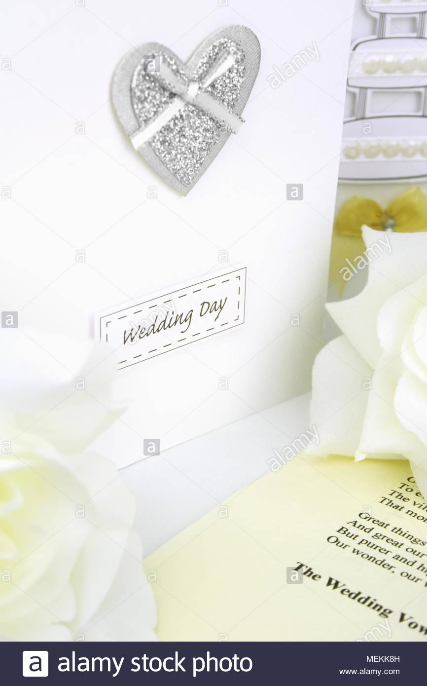 wedding day congratulation cards and wedding ceremony script sheet