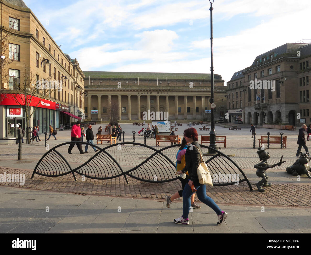 Caird Hall and City Square Dundee - Stock Image