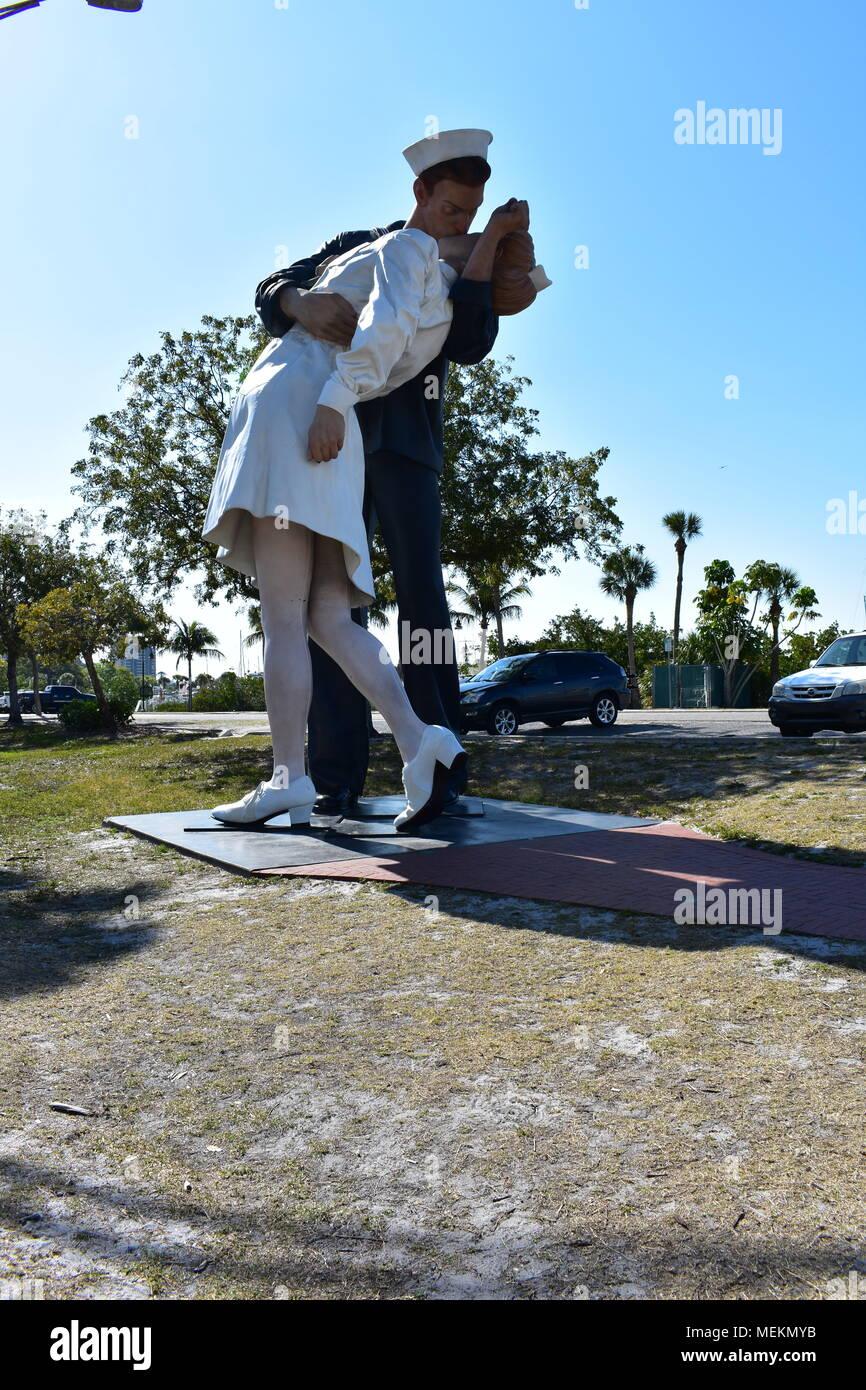 Unconditional Surrender in Sarasota Florida - Stock Image