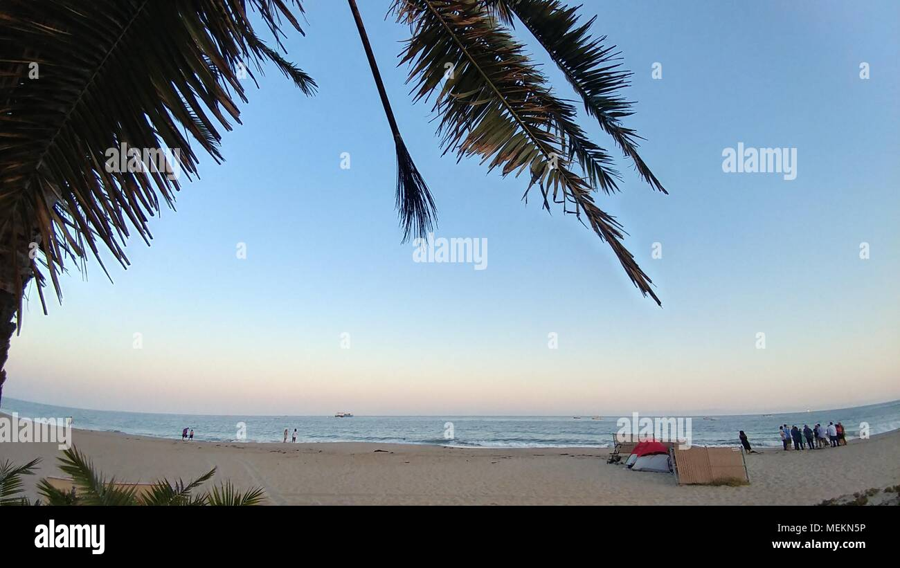 Santa Barbara Sunset - Stock Image