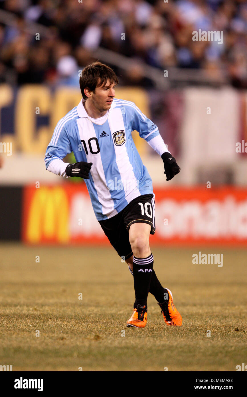 f525379ebab Argentina's Lionel Messi in action during friendly match between the United  Staes and Argentina at Meadowlands