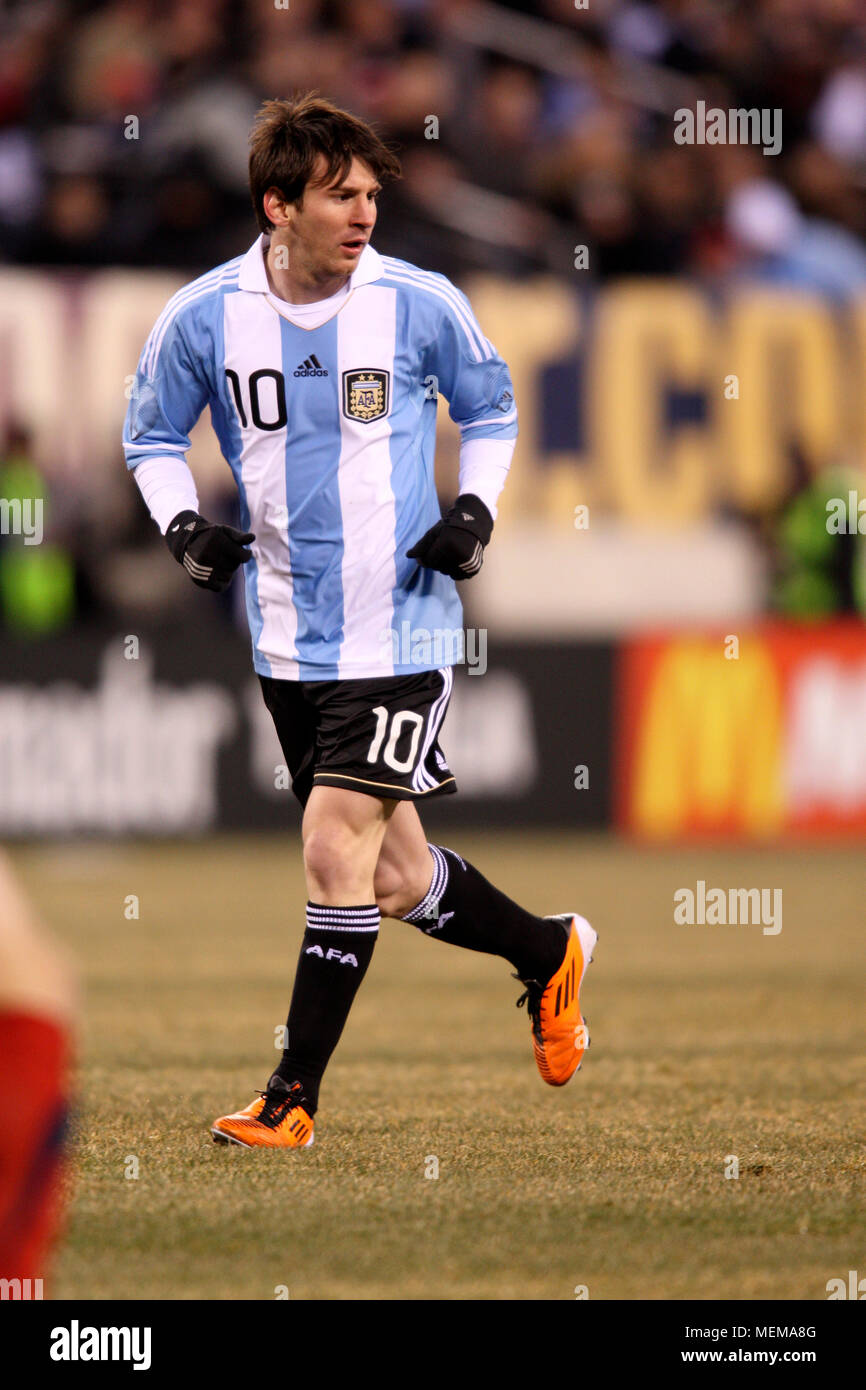 a7cf8d16b8c Argentina's Lionel Messi in action during friendly match between the United  Staes and Argentina at Meadowlands stadium on March 27, 2011