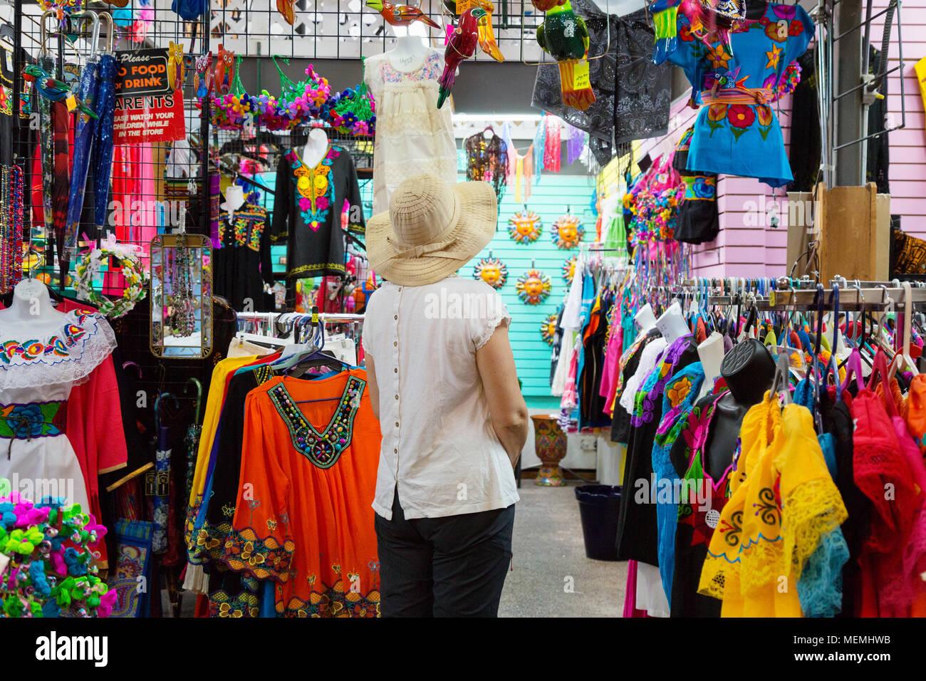 A Woman Shopping In A Clothes Shop San Antonio Historic