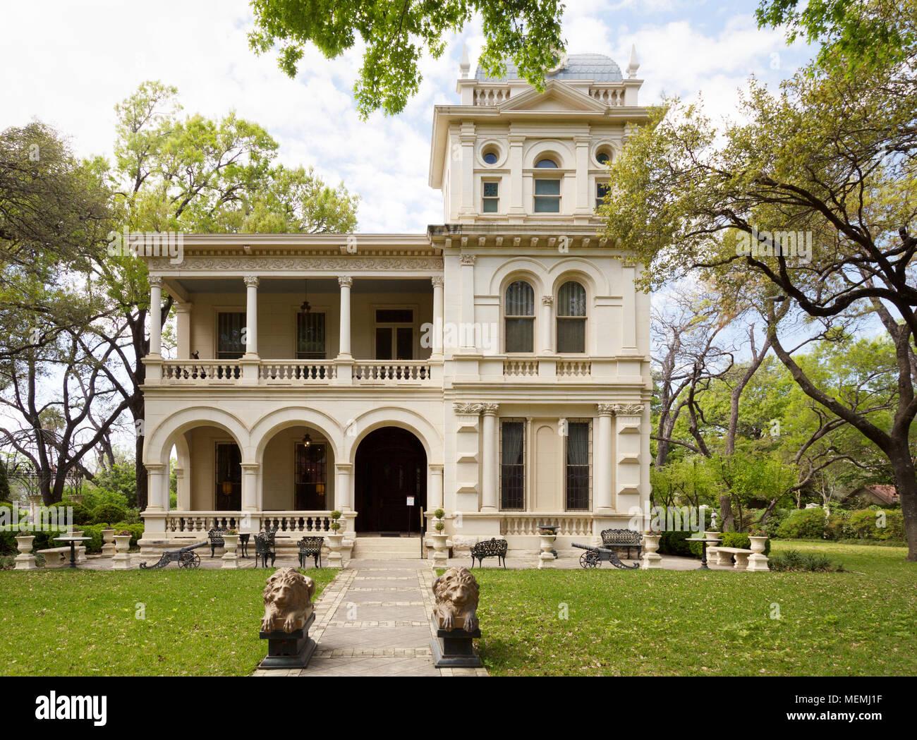Villa Finale Museum, exterior, in the upmarket King William district, San Antonio Texas, USA - Stock Image