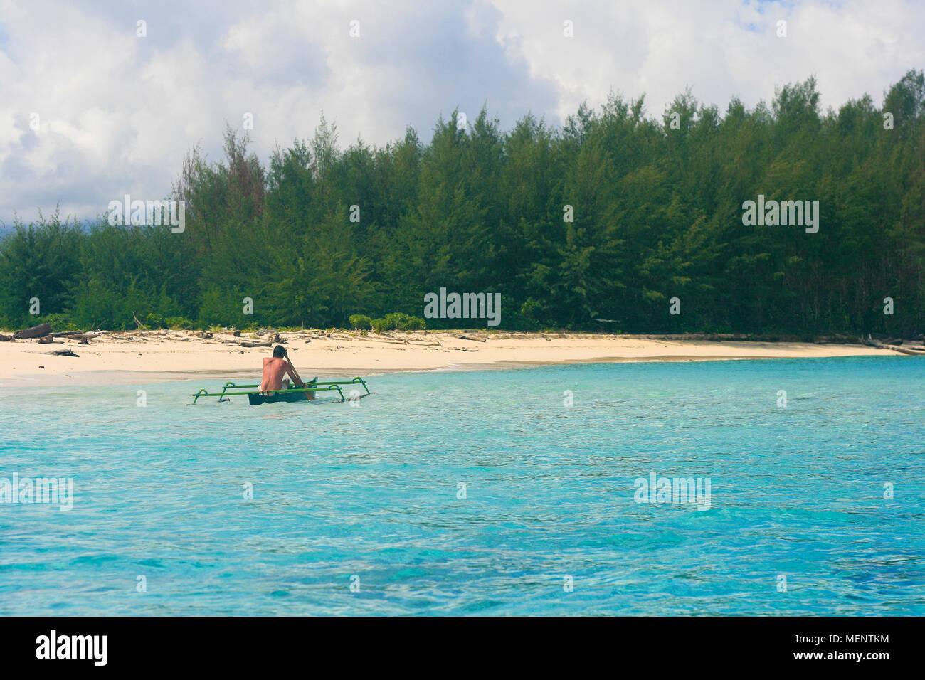 Inhabited island. Gorontalo.Sulawesi. Indonesia - Stock Image