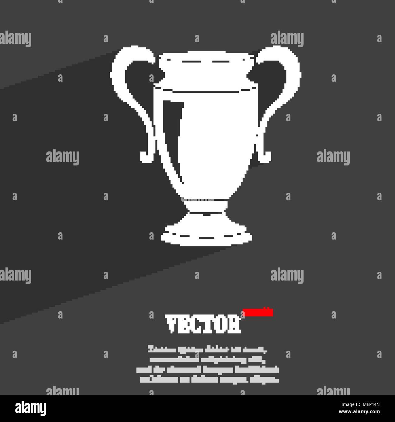 Trophy Symbol Flat Web Design Stock Photos Trophy Symbol Flat Web